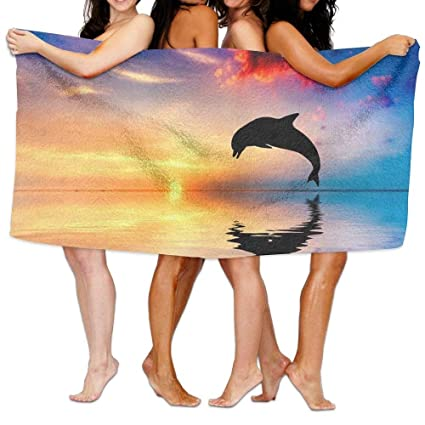cbe92ab3311a8f Amazon.com  SR-Home Dolphin Beach Towels Ultra Absorbent Microfiber ...