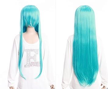 Kawaii-Story W DE 04 DE Bc46 Azul Claro Blue 80 cm Cosplay Peluca Wig