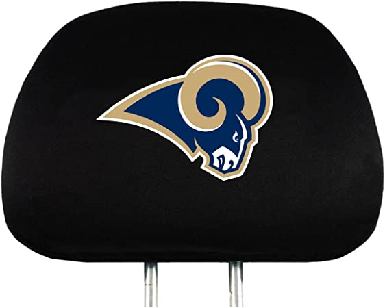 ProMark Los Angeles Rams New Logo 2-Pack Black Auto Head Rest Covers Cover Football