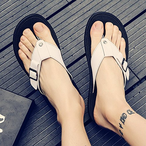 toe Slippers Summer and fankou beach white sandals tide drop sandals shoes drag 42 casual student men male field male clip men's vgww4q