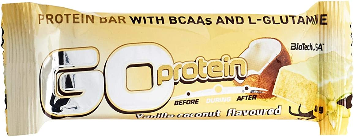 Biotech Go Protein Bar Vainilla Coco 24/D Proteínas - 40 gr