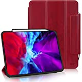 FYY Case for iPad Pro 12.9 Inch 2020 & 2018, Support iPad Pencil Charging, Auto Wake/Sleep,Protective Cover with Pencil Holde
