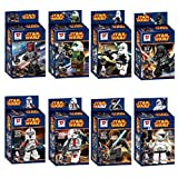 8pcs/lot Star Wars Minifigures D850 Building Blocks Sets Bricks Darth Vader Stormtrooper Clone Soldiers figures Compatible with Lego