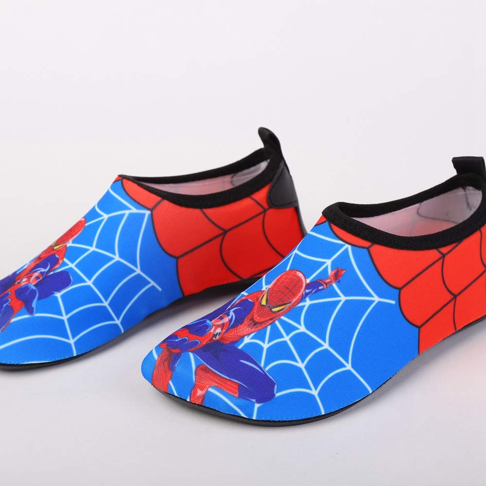 ROKIDS Kids Skin Quick-Drying Beach Shoes Spider-Man Swim Water Shoes