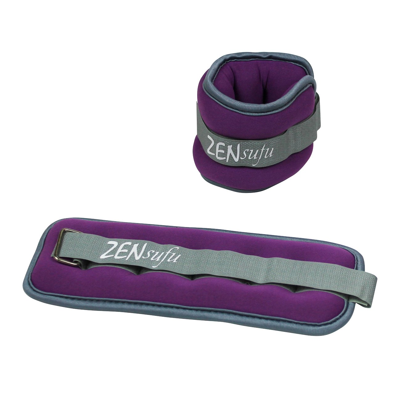 Zensufu Ankle or Wrist Weights Pair Set with Strap, Sold in Pairs of 1 to 5 lbs (2 to 10 lbs per Set)