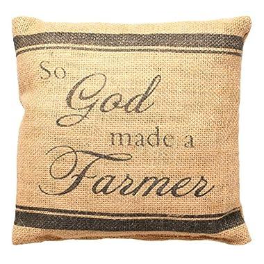 Small Burlap Farmer Pillow (8x8 )