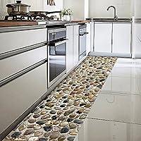 ChasBete Non-Slip Kitchen Floor Mat Slip Resistant Home Hallway Bathroom Runner Indoor Carpet Outside Door Rug Thin Cushioned Waterproof Heavy Duty Sticker(3D Stone)