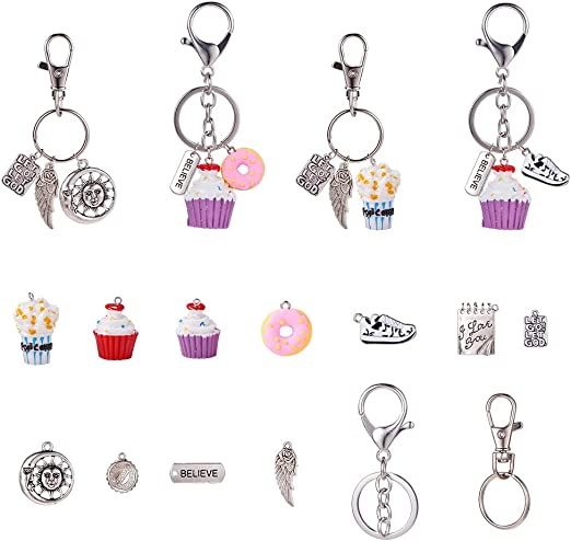 Trendy Keyring Motorcycle Pendant Keychain Key Chain Simple Key Ring Gifts 6A