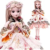 Funnybuy 23.6 inch Dressing Doll BJD 1/3 Outfits Free Face Make Up Kid Toy Gift