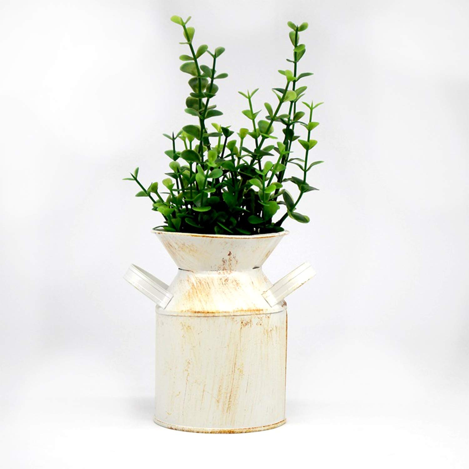PURROMM Home Decoration Gift, Flower Planting kit Wrought Iron Flower Pot Indoor Decoration Table Potted Flower Grow kit 3 pas,B