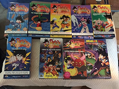 Dragonball Z: The First Episodes -VHS Tapes 1-6 plus the First Full-Length Feature