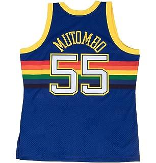 3d7072106235 Mitchell   Ness Dikembe Mutombo 1991-92 Denver Nuggets Blue HWC Swingman  Jersey