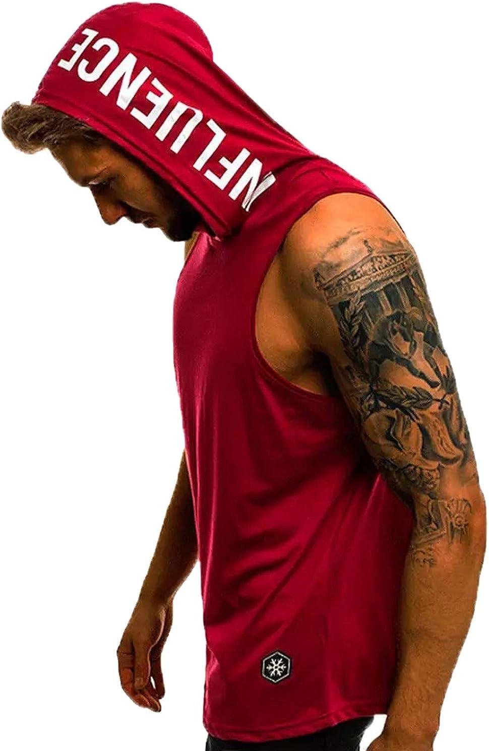 Camiseta sin Mangas y Capucha para Entrenar. Camisa Fitness ...