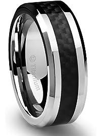 mens wedding rings amazoncom - Mens Black Wedding Rings