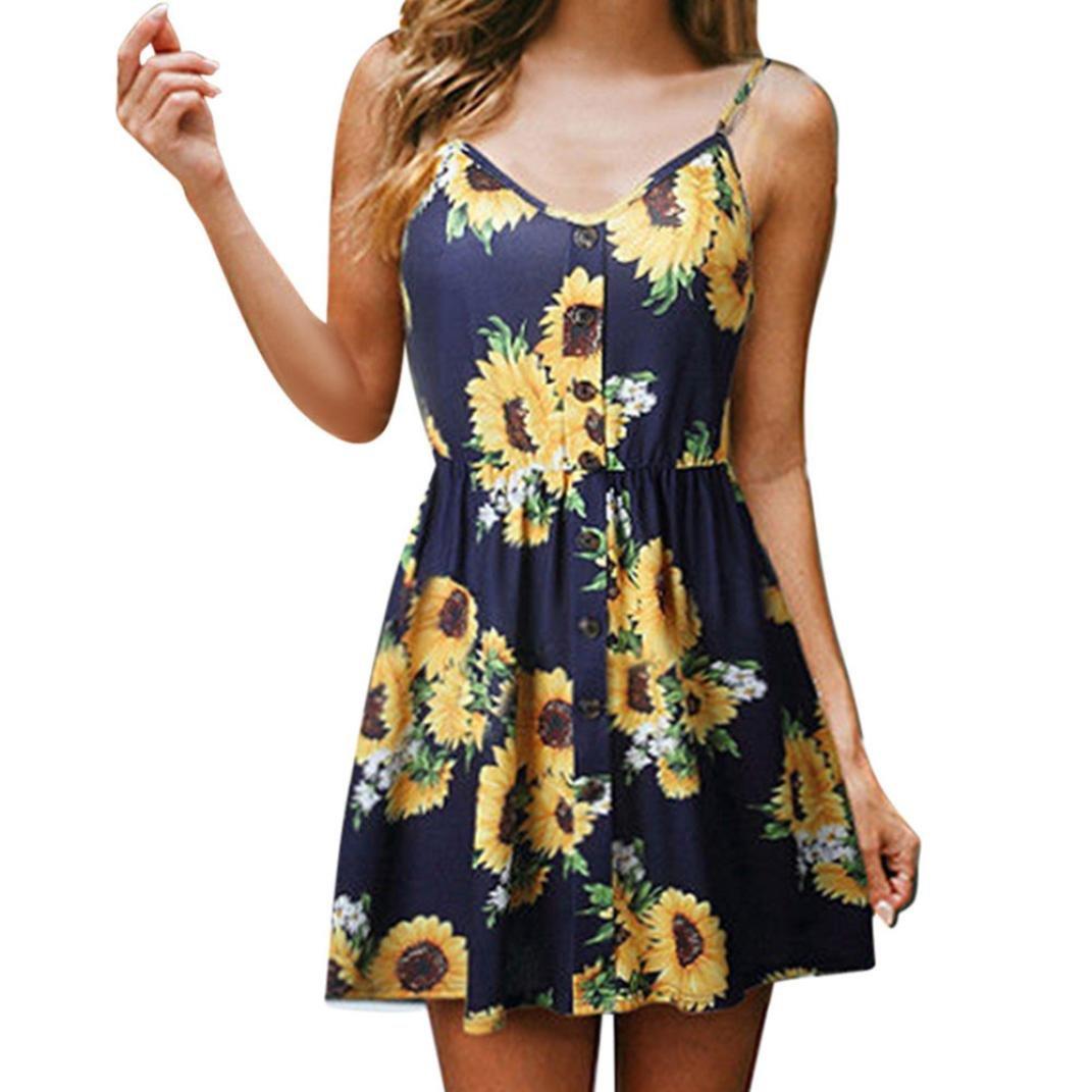 Delicious 2019 Brand New Infant Kids Baby Girls O Neck Sunflowers Dress Print Sleeveless Knee-length A-line Holiday Summer Boho Dress 1-5t Dresses Girls' Clothing