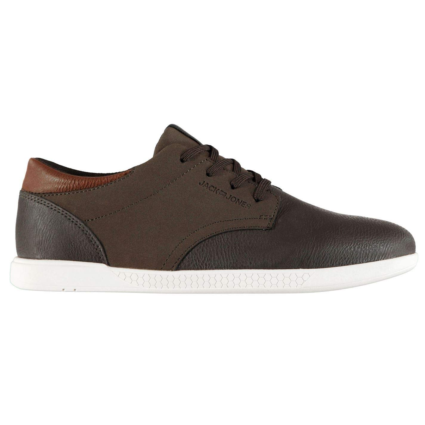 Mens Jack and Jones Jamie Anthracite Black Casual Trainers UK Size