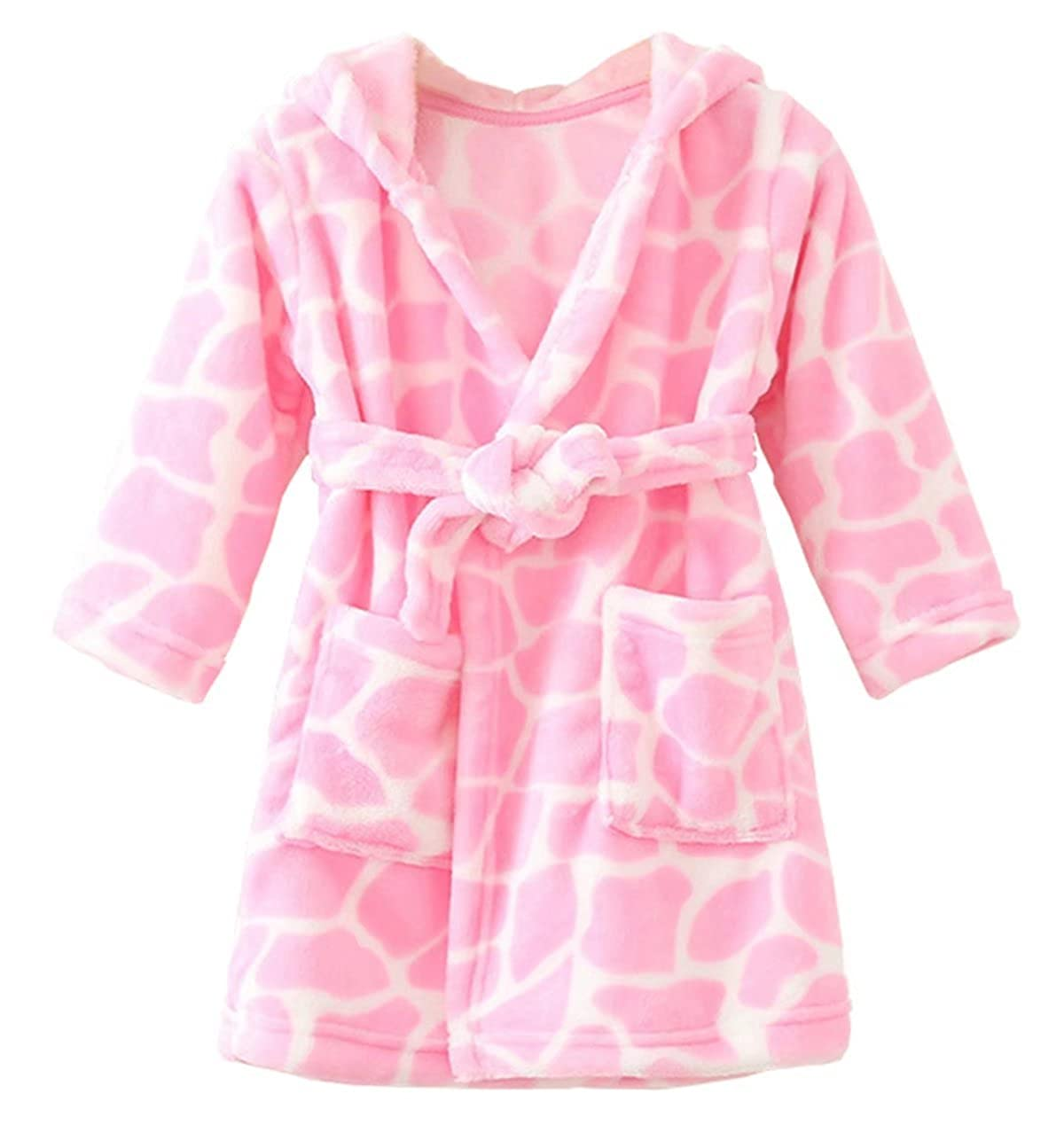 Betusline Unisex Kids Baby Flannel Bathrobes