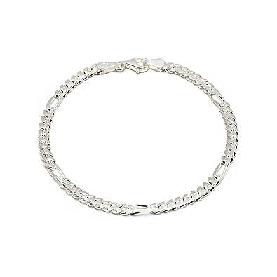 b56df06ee532 925 Silberarmband  Figaroarmband Silber 4,5mm 19cm - FA-4.5-19 ...