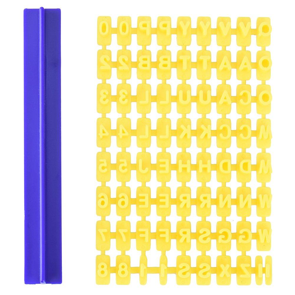 Alfabeto Números Letras Moldes DIY sello - Molde para galletas Forma lianle: Amazon.es: Hogar