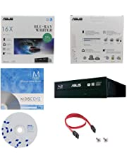 ASUS BW-16D1HT 16X Blu-Ray BDXL M-DISC CD DVD Bluray interno Quemador Drive con 1pk MDisc DVD + BD Suite Software + Cables & Tornillos de montaje