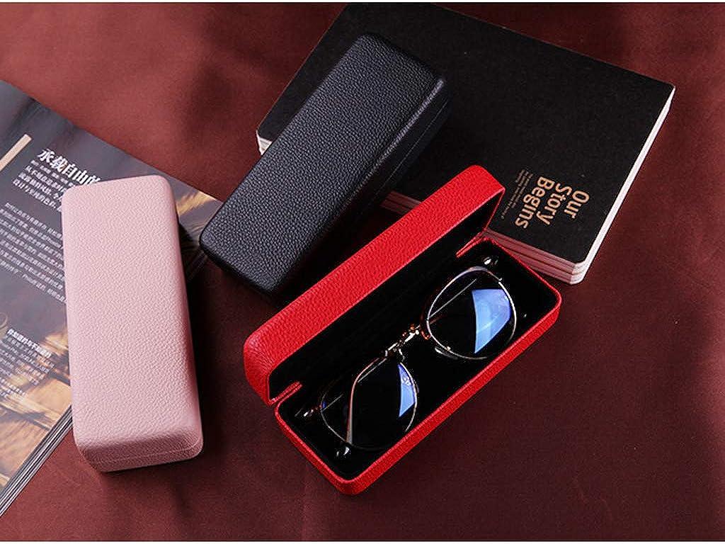 B Baosity Luxurious Eye Glasses Sunglasses Holder Box Portable Eyeglasses Hard Case Protector Easy Close off