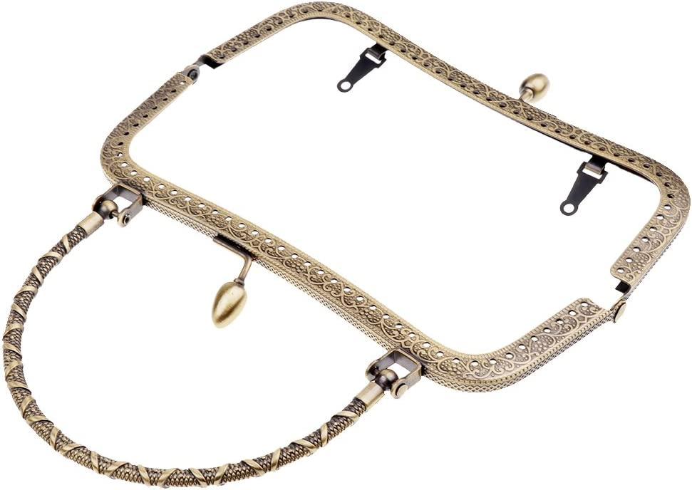 hell Gold Sharplace Metall Taschenverschluss Taschenb/ügel zum Einn/ähen Verschluss Rahmen Griffe Metallb/ügel f/ür M/ünzbeutel Handtasche Brieftasche
