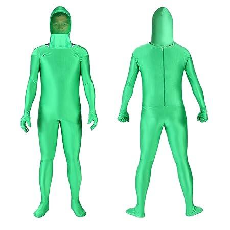 Neewer Foto y vídeo Chromakey Verde Traje Pantalla Verde Chroma Clave Body Suit para Foto y vídeo Efecto Invisible