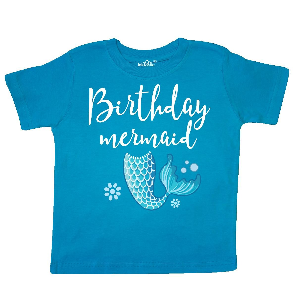 Birthday Mermaid Girls Party Gift Toddler T Shirt 2c572 14 181618 164 Novelty More Inktastic
