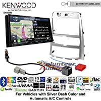 Volunteer Audio Kenwood Excelon DNX994S Double Din Radio Install Kit with GPS Navigation Apple CarPlay Android Auto Fits 2009-2012 Hyundai Genesis (Silver) (Automatic A/C controls)