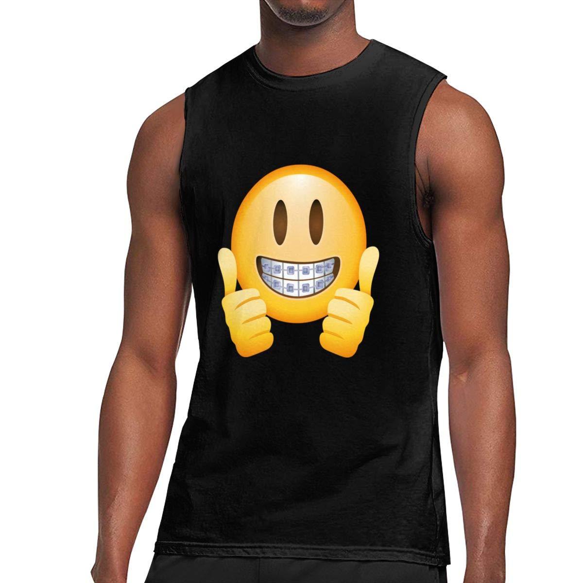 Seuriamin Thumbs Up Emoji S Fashion Travel Sleeveless Muscle Short Sleeve Ts Shirts