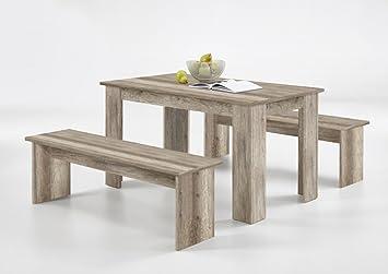 Küchenmöbel made in germany  Dreams4Home Sitzgruppe 'Irene II' - Set, Essgruppe, Tischgruppe, 2 ...