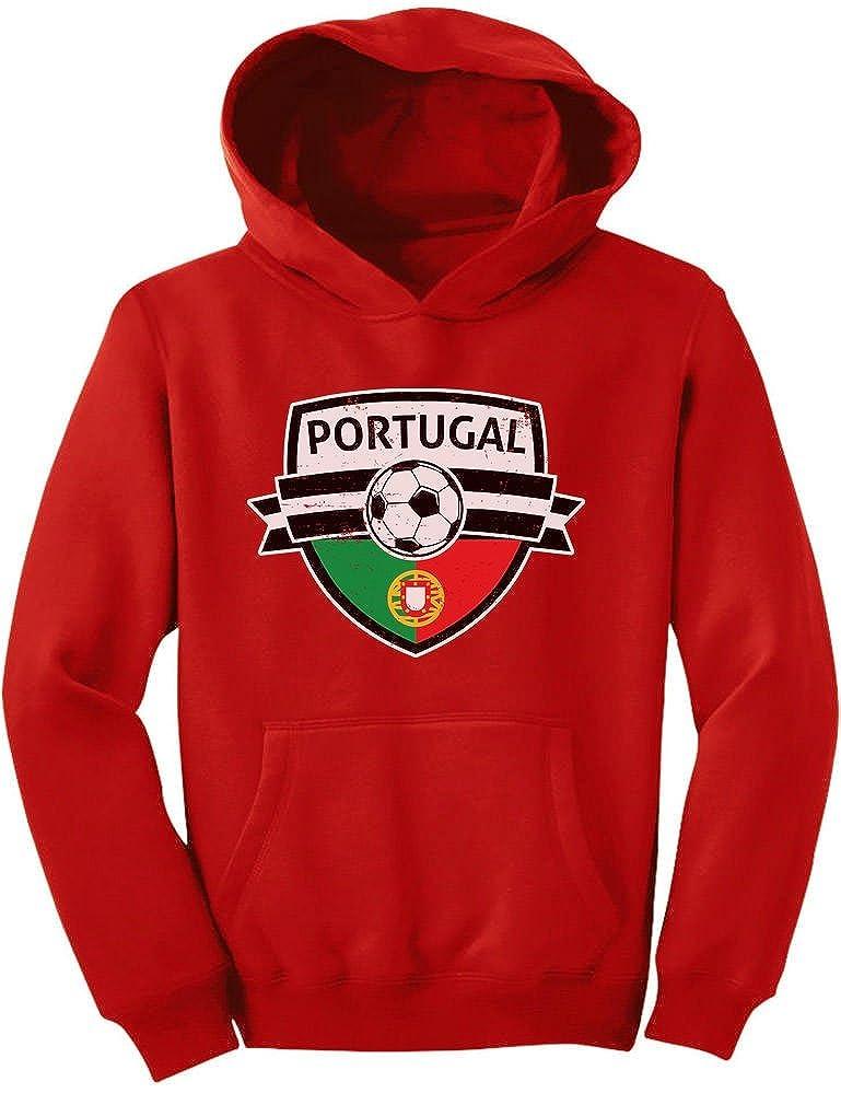 Tstars Portugal Soccer/Football Team Fans Youth Hoodie GZrrl00g-m