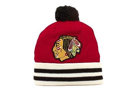 b877f3256 Chicago Blackhawks Mitchell & Ness Vintage Jersey Stripe Cuffed Knit Hat