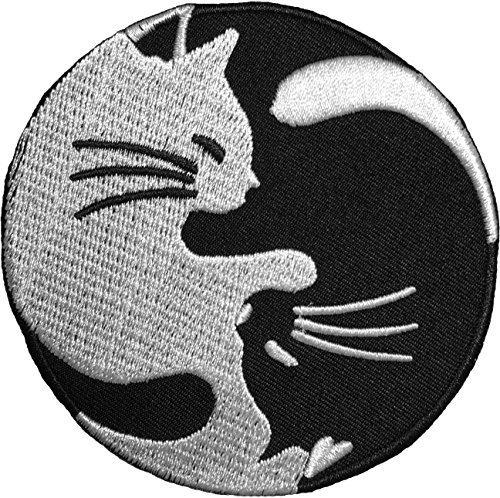 - Papapatch Cat Yin Yang Kung Fu Chinese Tao Balance Sign Symbol Logo T-shirt Costume DIY Applique Embroidered Sew Iron on Patch (IRON-CAT-YIN-YANG)