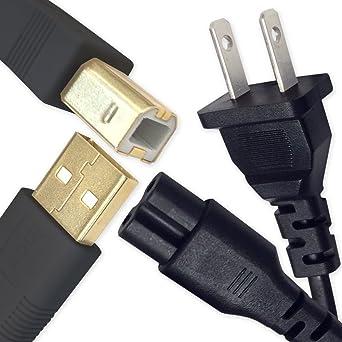 Power Cord Cable Plug for Canon Pixma iP4820 iX6520 iX6820 TS5020 TS9120 Printer