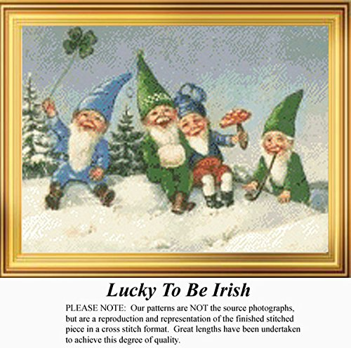 Lucky To Be Irish, Irish Counted Cross Stitch Pattern (Pattern Only, You Provide the Floss and Fabric)