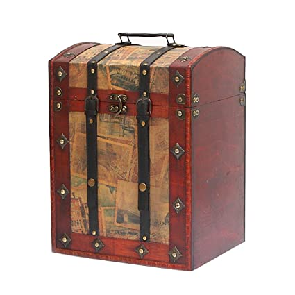 Luxury Large Treasure Chest With Oval Lid