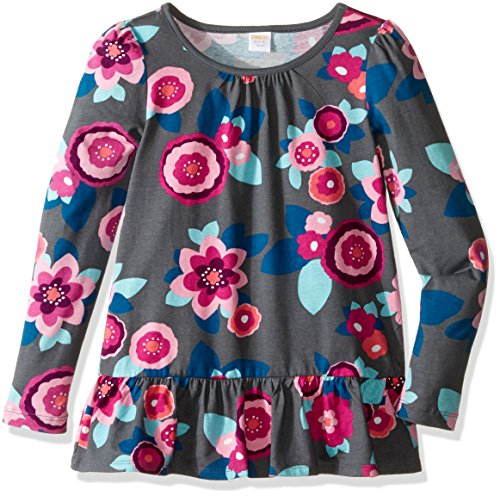 Gymboree Big Girls' Peplum Tee, Floral Print, S