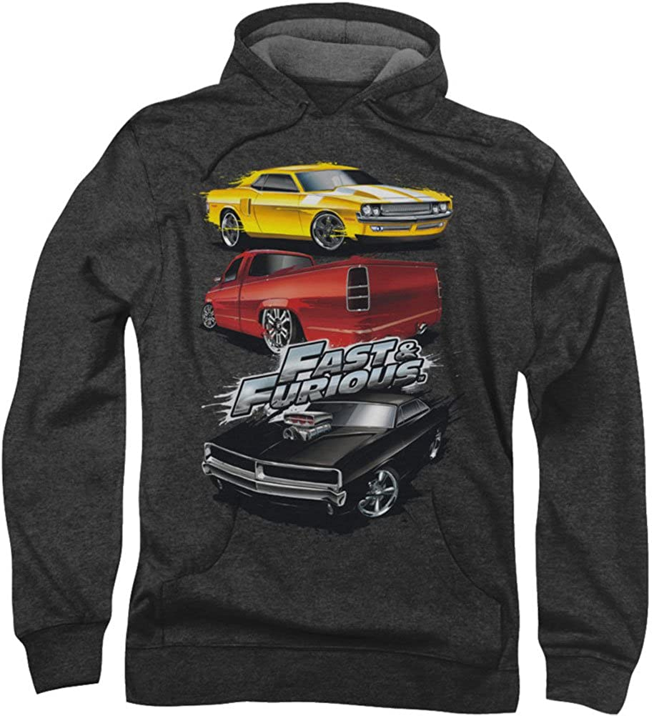 Fast And The Furious - Männer-Muskel-Auto Splatter Hoodie