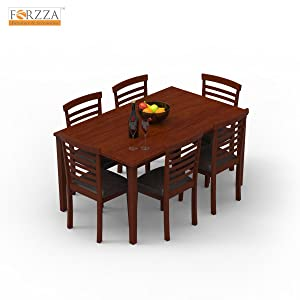 Vegas Six Seater Dining Table Set (Brown Oak)