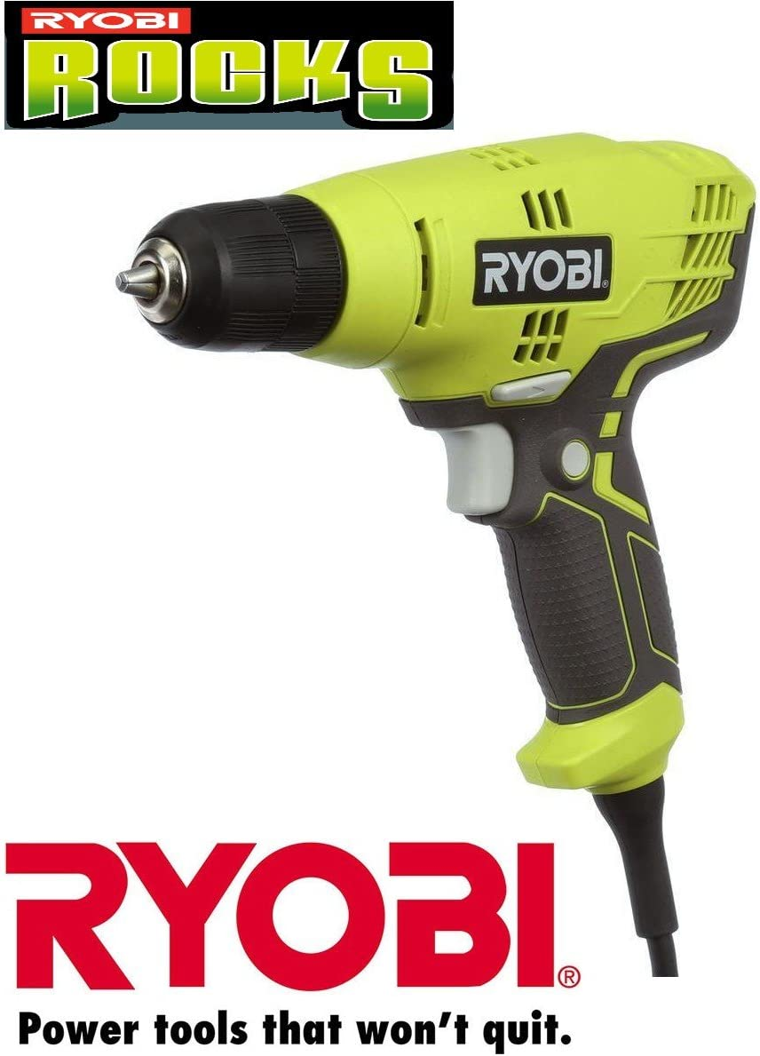 Ryobi ZRD43K 5.5-Amp 3 8 in. Variable Speed Drill Renewed