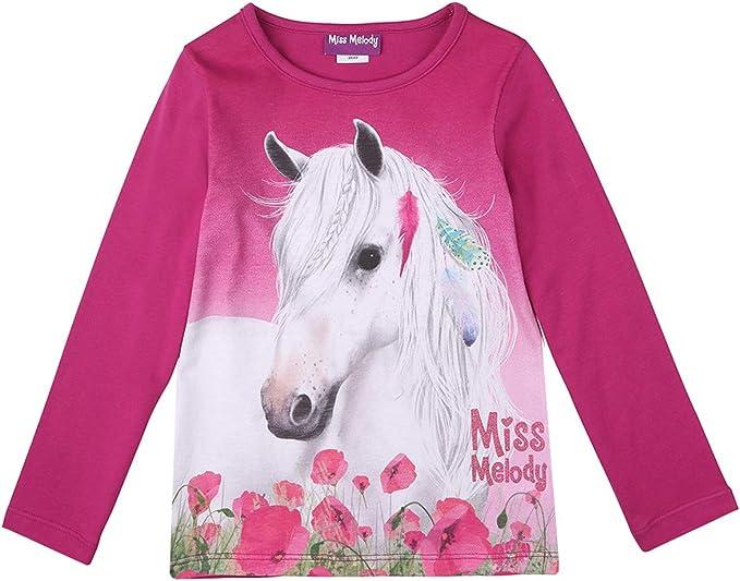 Miss Melody Ragazze Maglietta Blu T-Shirt