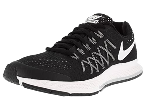 8d15a78f9ef0 Nike Unisex Kids  Zoom Pegasus 32 (Gs) Low-Top Sneakers Black Size  3.5   Amazon.co.uk  Shoes   Bags