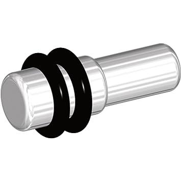 SECOTEC Glasbodenträger Petra 5 mm vernickelt 20 Stück