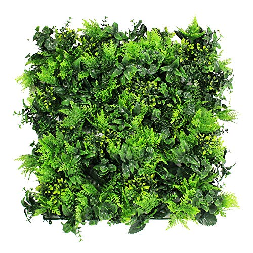 ULAND Artificial Topiary Hedges Panels, Plastic Faux Shrubs Fence Mat, Greenery Wall Backdrop Decor, Garden Privacy Screen Fence, Pack of 6pcs 20