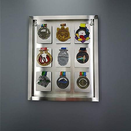 XIBALI Vitrina de Acero Inoxidable,para medallas Militares,Insignias,Colecciones de exhibición de medallas,Textura de Metal,Soldadura láser(36 * 44cm): Amazon.es: Hogar