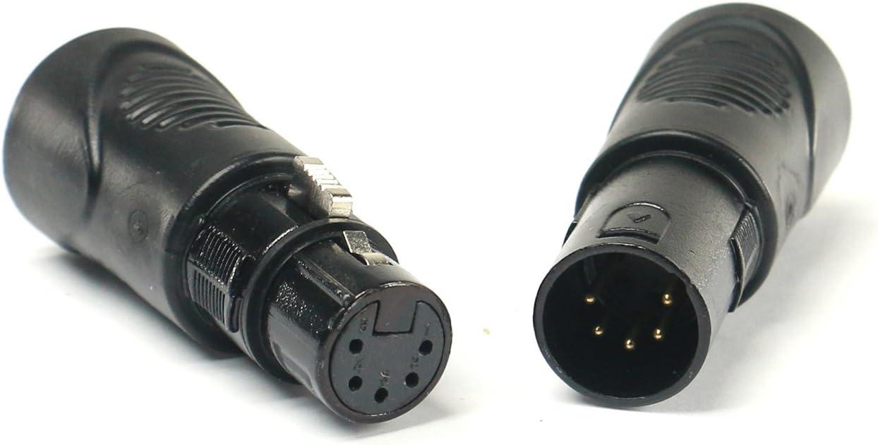 DMX-5XM-CAT5 5-Pin XLR Male To RJ45 Adapter-by-Tecnec