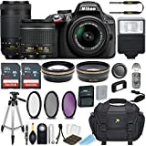 Nikon D3300 24.2 MP DSLR Camera (Black) w/AF-P DX NIKKOR 18-55mm f/3.5-5.6G VR Lens & AF-P DX NIKKOR 70-300mm f/4.5-6.3G ED Lens Bundle includes 64GB Memory + Filters + Deluxe Bag + Accessories