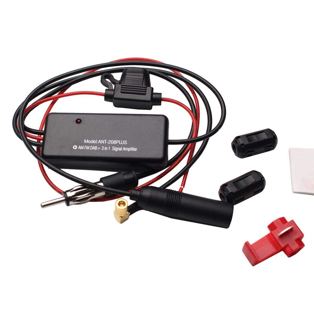 baAbilloOng Signal Amplifier ANT-208PLUS Universal DAB FM AM Car Antenna Radio Signal Amplifier Booster Audio & Video Accessories Audio & Video Accessories