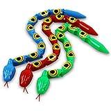 6 x HC-Handel 913952 Gelenkschlange Plastikschlange verschiedene Farben